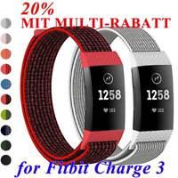 Nylon Fiber Band Atmbar Handgelenk (Strap) Ersatz Armband For Fitbit Charge 3