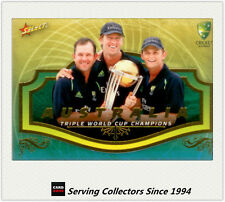 2007-08 Select Cricket Case Card- World Cup Triple Crown Ponting/McGrath/Gilly