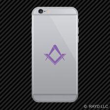 (2x) Freemasonry Cell Phone Sticker Mobile Freemasons Masonic Square Compass