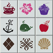 Tile Stickers Transfers Bathroom / Kitchen Intrerior Home Decal Art Cover Decor