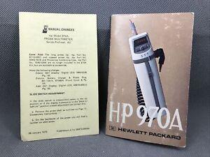 HP 970A Probe Multimeter Manual