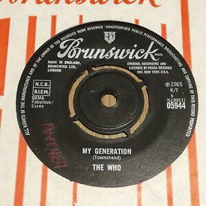 * THE WHO - MY GENERATION - 1st PRESS 1964 UK BRUNSWICK 45 *