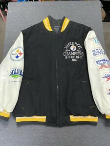 Reebok NFL Apparel Pittsburgh Steelers Super Bowl Jacket YOUTH LARGE