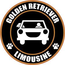 "LIMOUSINE GOLDEN RETRIEVER 5"" DOG STICKER"