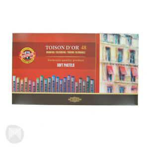 KOH-I-NOOR TOISON D'OR SOFT PASTELS Assorted Box of 48