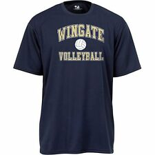 NEW Wingate Bulldogs Short Sleeve Women's Volleyball Small Navy Blue Shirt NWOT