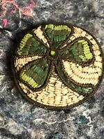 Victorian Milifiore Brooch/Pin - Four Leaf Clover - Good Luck
