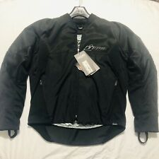 ICON KONFLICT Textile Motorcycle Jacket (Stealth Black) Size M Padded Zip Pocket