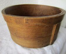 "16"" dry measure Antique primitive Wooden Barrel Bushel Basket Bucket"