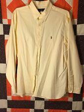 Ralph Lauren Men's Blue Label Yellow Shirt Long Sleeve 17.5 44