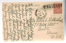 1928 Hong Kong Paqueboat Picture Postcard Cover to USA Ceylon Elephant Caravan