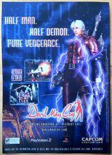 Devil May Cry Original Poster Ad Print Sony Playstation 2 PS2 Retro
