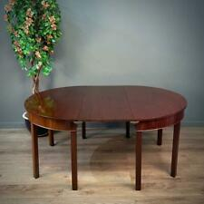 Attractive Antique Georgian Mahogany Extending D End Dining Table With One Leaf