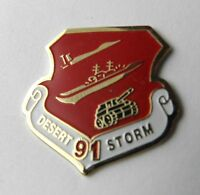 US Army Air Force Navy Marines USMC Desert Storm 1991 Lapel Pin Badge 1 inch