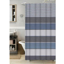 """Cannon Chambray Blue Fabric Shower Curtain  70x72"""""""
