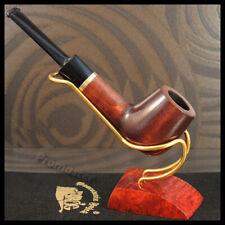 "Mr. Brog WOODEN SMOKING PIPE  no 47 Brown  "" Bilard "" PEAR Straight + Box"