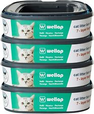 New listing 4 pack Wellap Cat Litter Disposal System Refills 7 Layer Bags for Genie