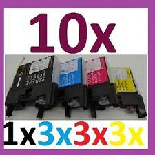 10x Tinten Drucker Patronen für MFC-J430W ersetzt Brother LC1240 LC1220 LC1280