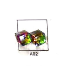 Lots Faceted Square Cube Glass Crystal Loose Spacer Beads Charm Finding 4mm New