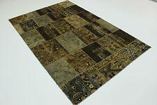 Modern Patchwork Stone Wash Used Look Perser Teppich Orientteppich 3,03 X 2,00