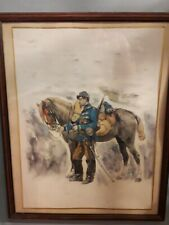 More details for edouard detaille print french cavalry prussian war era framed 54cm x 43cm