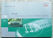 AUDI A6 Car Instruction Owner's Manual Handbook Oct 1998 #992 561 4B0 20