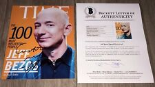 JEFF BEZOS SIGNED AUTOGRAPH AMAZON BLUE 8x10 PHOTO w/EXACT PROOF BECKETT BAS LOA