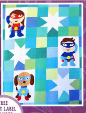 My Super Hero Quilt - applique & pieced quilt PATTERN - Passionately Sewn