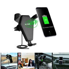 Fast Wireless Car Charger Car Holder Mount for IPhone Samsung Qi-enabled devices