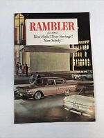 1962 Rambler Full Lineup Dealer Sales Brochure Fold Out Free Shipping