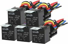 Ep-Auto 5 Pack 30/40 Amp Relay Harness Spdt 12V, 5-Pin Spdt Bosch Style
