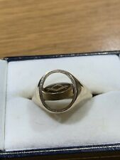 More details for 9ct gold and enamel masonic swivel ring