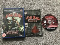 EVIL DEAD A FISTFUL OF BOOMSTICK SONY PLAYSTATION 2 PS2 GAME WITH MANUAL PAL VGC