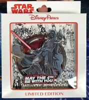 May the 4th Be With You 2019 Jumbo Pin Darth Vader Star Wars Day Force LE 1000