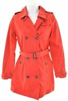 BURBERRY Girls Trench Coat 13-14 Years Red Cotton  NN05