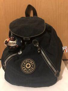 🎁RARE Kipling Vintage Olympics Belgian Backpack Blue Monkey Ann Ltd Edition VGC