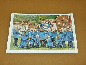 PHOTO CHOCOLAT COTE D'OR 1946 FOLKLORE BELGIQUE N°153 VERVIERS CARNAVAL BANES
