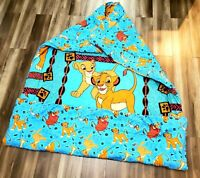 Vintage 90s Disney The Lion King Full Reversible Comforter Blanket Simba Nala