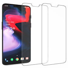2 Pack, OnePlus 6 Screen Protectors Best Tempered Glass 100% Thin Protection