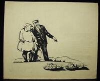 Roland Mit Durieux Zeichnung Original Tinte