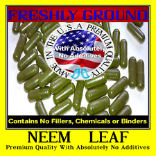 NEEM LEAF With Absolutely No Additives High Potency 100 Vegetarian Capsules