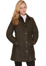 Ladies Barbour BELSAY wax brown country casual stable jacket coat size 14