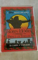 ROBIN HOOD PRINCE OF THIEVES TOPPS TRADING CARDS COMPLETE SET w STICKERS