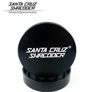 "Large 2.75"" Black Santa Cruz Shredder Aluminum Herb Grinder 2 Piece Texture Grip"