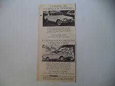 advertising Pubblicità 1961 FORD CONSUL 315/CAPRI