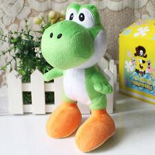 "1pcs Super Mario Bros Plush Toy Green Yoshi 9"" Cute Stuffed Animal Dolls Cool"