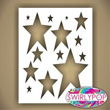 SWIRLYPOP PRIMITIVE STAR STENCIL CRAFT TEMPLATE 9