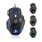 ZELOTES 5500 DPI 7 Button LED Optical USB Wired Gaming Mouse Mice For Pro Gamer
