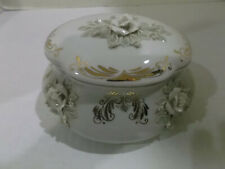 PORCELAIN DECORATIVE JAR WITH LID, PRE - OWNED