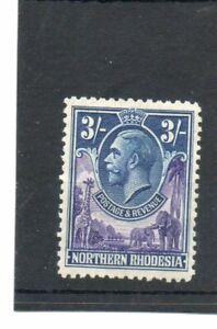 SG 13 NORTHERN RHODESIA 3/- MINT. CAT £48. TWO SCANS